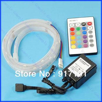 Free Shipping 1M 5050 SMD RGB 30 LED Flash Strip + Remote Controller