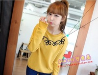 2013 spring new arrival loose o-neck casual women's sweatshirt female sweaters