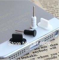 wholesale 800pcs=400pairs Dock Cover for iPhone 5 dust plug , earphone jack plug for iphone 5 free shipping