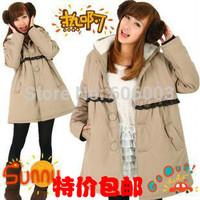 Maternity clothing autumn and winter wadded jacket fleece thickening maternity cotton-padded jacket coat  Pregnant women coat