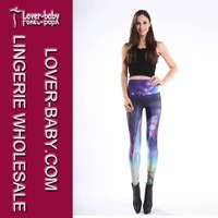 Free Shipping(1 pieces) Nylon Spandex  sexy women Multicolored Fancy Galaxy Leggings L8701