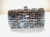 Free Shipping Solid Rhinestone Handbag Crystal Clutch Bag Party Bag Bling Bling S0848