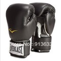 Free shipping quality goods sell like hot cakes EVERLAST boxing gloves/sanda fists/ventilation type / 8-16 ounces black(China (Mainland))