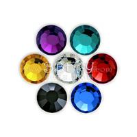 Free shipping hot fix 2mm flat back 7 colours mix colors 1050pcs per lot hotfix crystal Elements