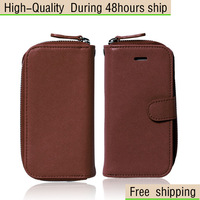New Fashion 2 IN 1 Leather Case Cover + Wallet Bag For Apple iphone 5 5G 5th Free Shipping UPS DHL EMS HKPAM CPAM GAD-3