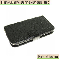 New Snakeskin Flip Leather Wallet Case Cover For Samsung Galaxy S3 SIII i9300 Free Shipping UPS DHL EMS CPAM HKPAM