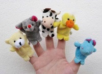 Baby Plush Toy,Cartoon Animal Finger Puppet,Talking Props finger doll 10 kinds of animals Free Shipping 100pcs/lot 100pcs/lot