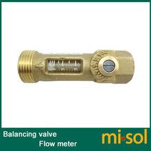 """1pcs of Brass G1/2"""" Flow Meter DN15 Balancing Valve flow sensor(China (Mainland))"""