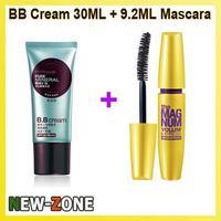 Free shipping 100% Brand New Quality Gurantee Mineral BB cream 30ml + Mascara 9.2ml Perfect Make up set Cosmetcis Combination!
