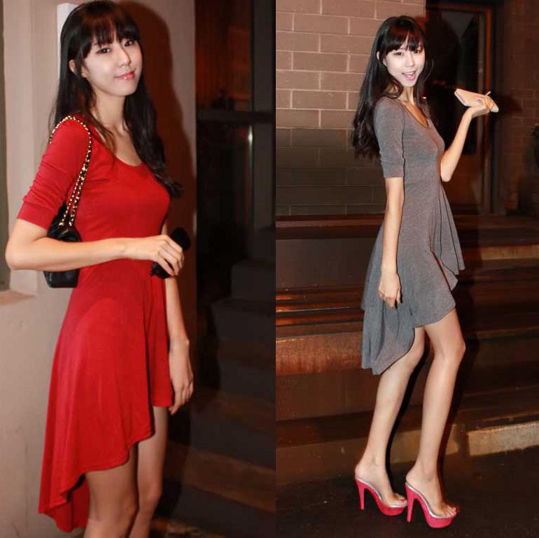 Трикотажное платье с хвостом