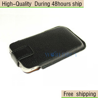 New Deluxe Litchi Skin Leather Bag Pouch Case for Apple iPhone 4 4S 4G Free Shipping UPS DHL EMS CPAM HKPAM GRS-01