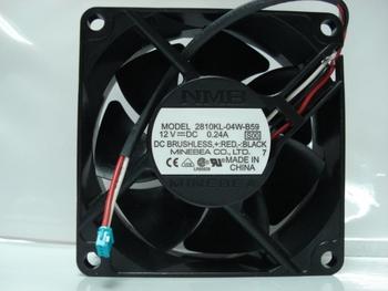 100% New 7cm 2810kl-04w-b59 S00 7025 12v 0.24a 70*70*25MM  alarm signal line dual ball bearing fan