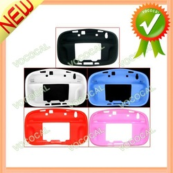 New Soft Silicone Protective Case Cover Skin for Nintendo Wii U, Free Shipping, Mini Order 1 pcs(China (Mainland))