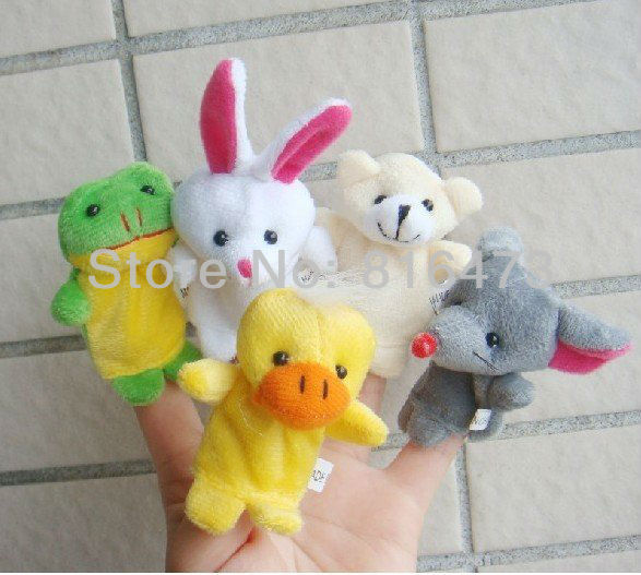Brand new today's special Models Cartoon Animal Finger Puppet Finger toy Finger doll baby dolls 100pcs(China (Mainland))