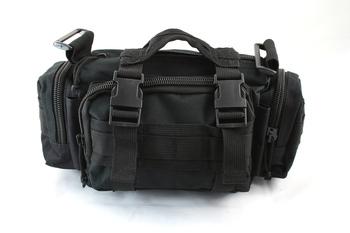 MOLLE Shoulder Waist Bag Black WG-01-BK free ship