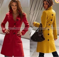 Shanghaimagicbox Women Fashion Vintage Classic Slim Fit Long Trench Coat Outwear WCOT193