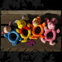 Baby Plush Toy,Baby Animal Model Catoon Toys Soft Hand Bell Ring Rattles Kid Plush Soft Toys,Free Shipping 8pcs/lot