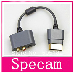 LOW PRICE ! High qualty + 1 PCS HDMI AV RCA L/R Optical digital Audio Cable Adapter For Xbox 360 + Free Shipping +dorp shipping(China (Mainland))