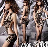Сексуальное белье новый черный & zip ПВХ платье, g строка белье один размер набор пижамы, белье, униформа, кимоно костюм w1372