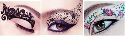 Free Shipping Eye Shadow Stickers Makeup Tools Eye Liner Onetime Eye Shadow Tattoos Design Shadow(China (Mainland))