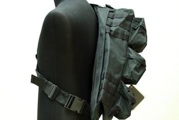 Assualt sports bag MOLLE Shoulder Bag Black SG-02-BK free ship