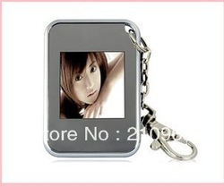 Mini 1.5 inch Digital Photo Frame Keychain key chain picture 16M storage Free Shipping(China (Mainland))