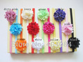 24pcs/lot  Girls headwear Chiffon Lace Layered Flowers Baby Headbands Hair Bands Hair Accessories Assorted Colours Freeshipping