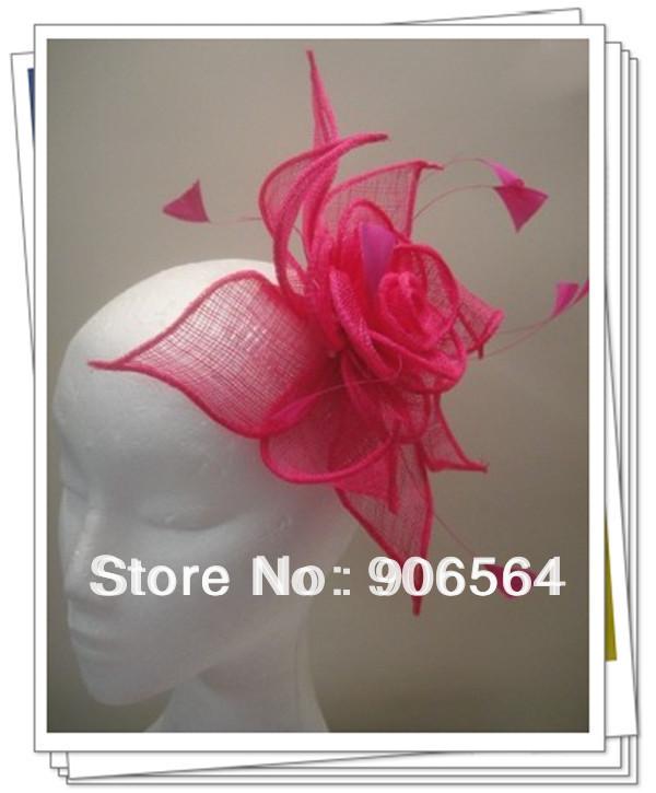 Free shipping 9color avaliable sinamay fascinator hats ,good bridal wedding hats,cocktail hat,Very nice,MSF201(China (Mainland))