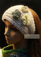 12pcs/lot, wool crochet small camellia flowers elastic headband wool braided hairband AJB-0318 free shipping various colors