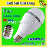 5W E27 / E26 led white bulb_5730 SMD led globe lights_Auto led bulb