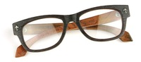 Wholesale vintage designer Optical Eyeglasses Sagawa Fujii handmade wooden glasses box myopia plain glass spectacles frame 7075D