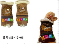 Pet clothes vip teddy bo bear schnauzer clothes autumn and winter thickening dog accessories