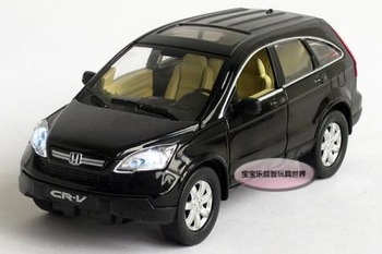 New 1:32 Honda CRV Alloy Diecast Model Car With Sound&Light Black Toy Collection B222a