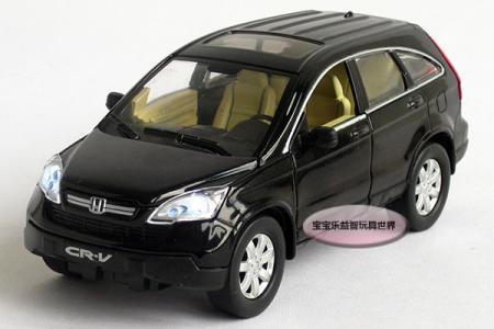 New 1:32 Honda CRV Alloy Diecast Model Car With Sound&Light Black Toy Collection B222a(China (Mainland))