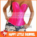Sexy Fashion Lady Womens strapless lace up overbust bridal wedding corsets bustier top sexy lingerie clothing