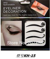 8PC/SHEET/PACK 48 design option cystal multi color make up Eye Shadow Smoky sticker beauty