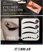 8PC/SHEET/PACK 48 design option cystal multi color make up Eye Shadow Smoky sticker beauty