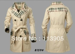 British style brand plaid jacket classic woman double-breasted coat M / L / XL / XXL wholesale and retail #8159(China (Mainland))