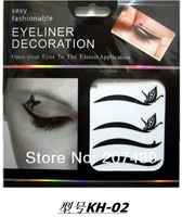 8PC/SHEET 48 design black make up eyeliner Eye Shadow Smoky beauty