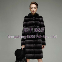 BG23565 Elegant Style 2013 Genuine Sheared Rex Rabbit Fur Clothes Women Winter Coat Russian Style OEM Wholesale/Retail