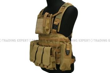 Tactical Molle Vest Desert Tan VT-01 free ship