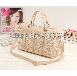 Stylish Lady's LOVE PU handbags women Lace Bag wholesale dropshipping 3colors for choose free shipping(China (Mainland))