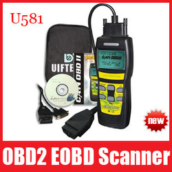 High Quality U581Can OBDII/EOBDII Memo Scanner Can-Bus Code Reader Memoscan Diagnostic Tools, Free Shipping(China (Mainland))