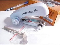 free shipping 4pcs/lot DIY Tool Mini Handheld Portable Clothes Fabrics Hand Sewing Machine Handy Stitch 4 Colours