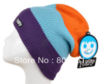 Colorful Color 100% Orlon Knit Beanie Men Women Warm Winter Ski Hat New