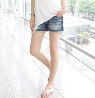 Maternity clothing happymaman summer maternity denim shorts m3580
