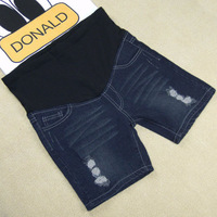 Fashion maternity clothing maternity pants spring and summer denim belly pants adjustable shorts 303