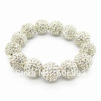 Wholesale jewelry beads bracelet 6cm  1pcs/lot Fashion Round Shamballa beads Bracelet HB359