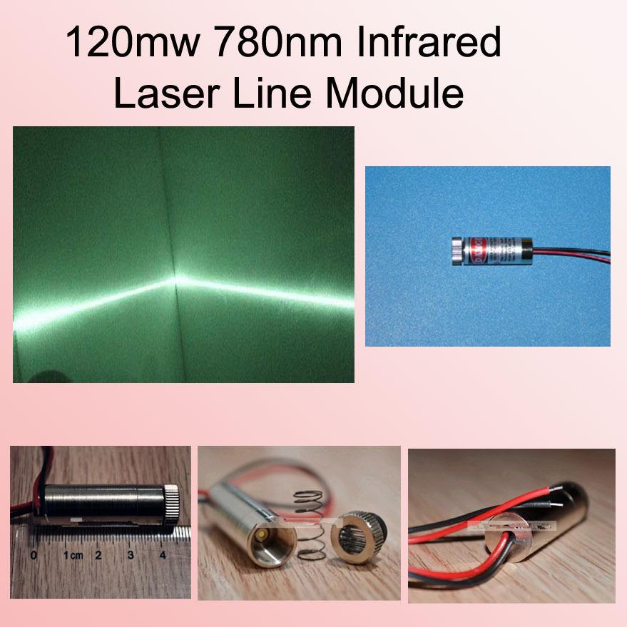 780nm 120mW laser OEM module 5.0VDC w/ adj. lens 780nm Laser Line Module Line emission angle of 90 degrees(China (Mainland))
