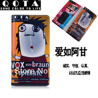 QOTA Handmade colored drawing long design wallet cartoons wallet genuine leather wallet wholesale free shipping qn028